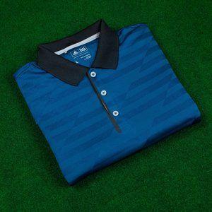 adidas Blue Geometric w/ Black Trim Polo